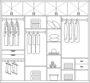 png freeuse stock Make a perfect wardrobe. Closet drawing easy