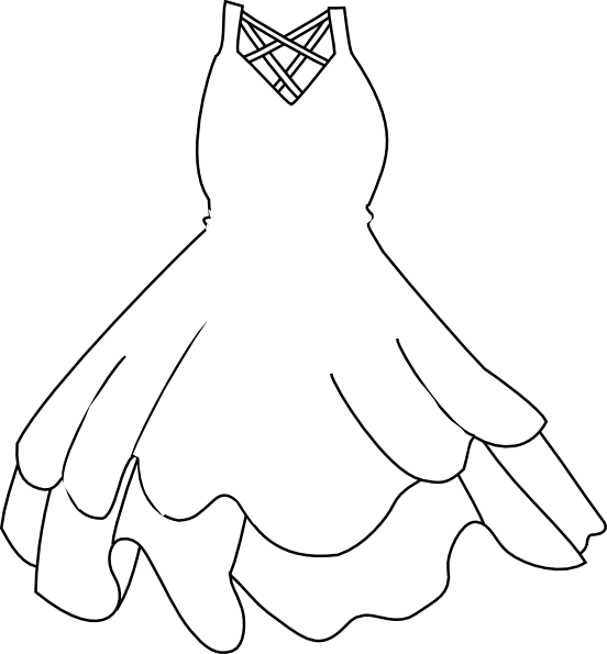graphic transparent Vector clothing outline. White dress clip art