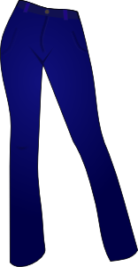 vector freeuse Clothes clipart jeans. Women clothing blue clip.