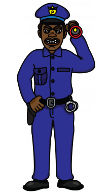 picture black and white Police officer drawing at. Clothes clipart policeman.