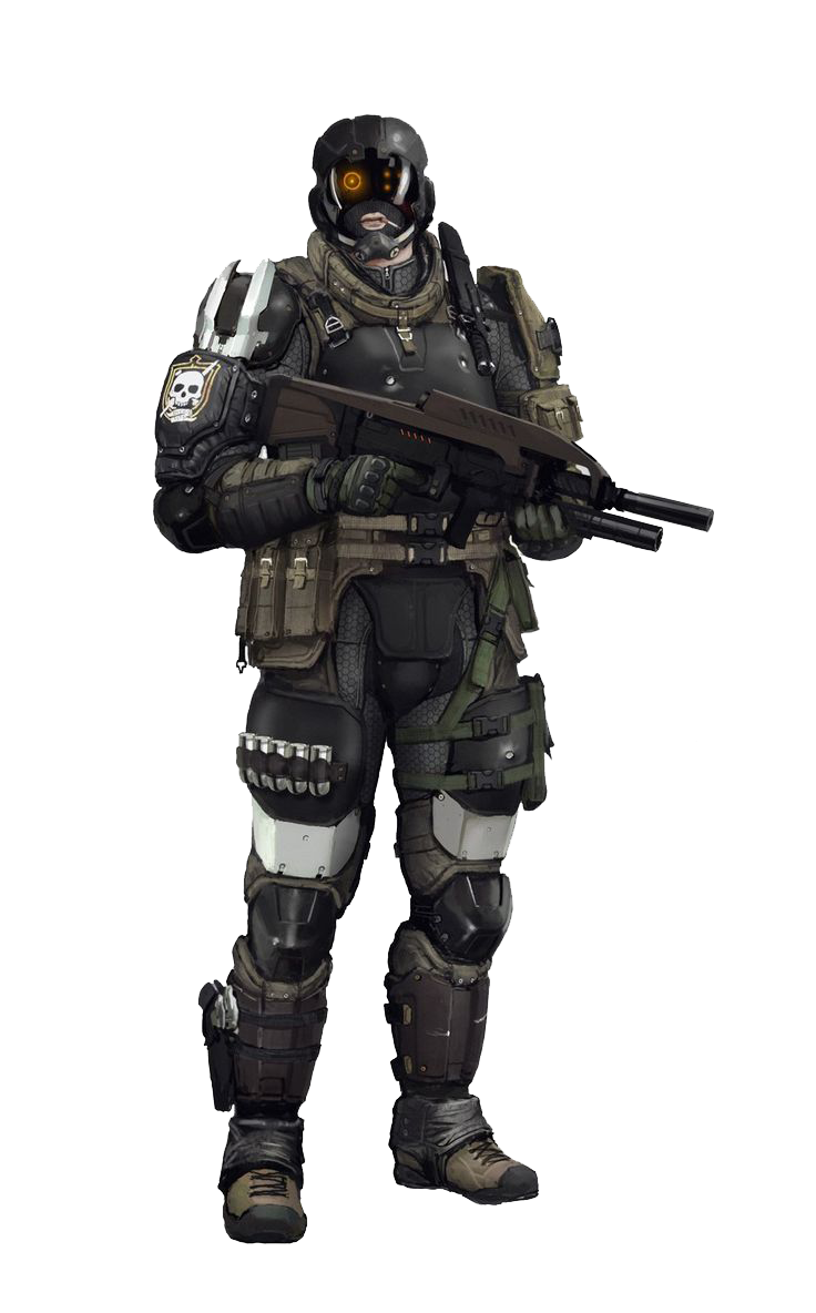 clipart free stock Army soldier clipart. Sci fi warrior png