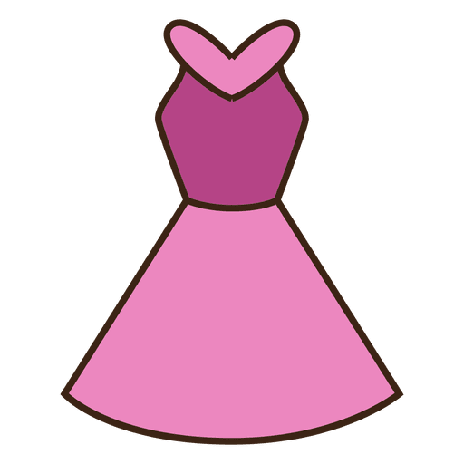 banner freeuse library Pink dress transparent png. Clothes vector cartoon