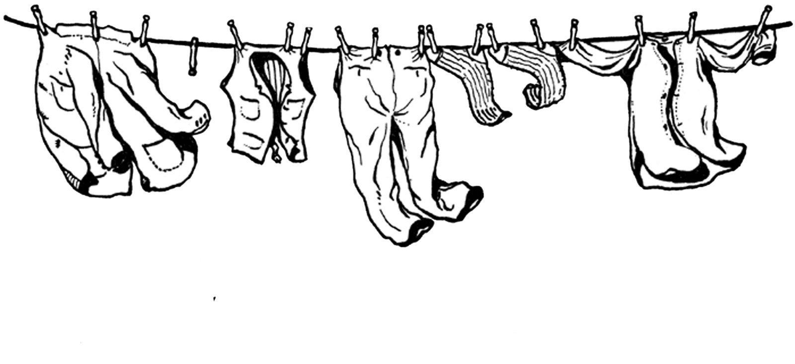 clipart library download Png and clothes assorted. Clothespin clipart clothesline.