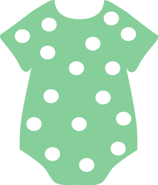 image free Baby clip images green. Vector clothing art