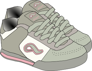 vector free stock Shoes sneakers clip art. Vector clothing shoe