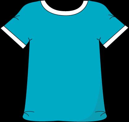 jpg transparent library Clothing clipart cute shirt. Blue tshirt white collar.