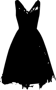 clip black and white download Clothing clipart old clothes. Dress clip art black.