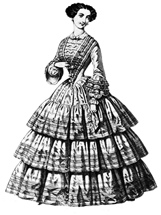 graphic library library Clip art of victorian. Clothing clipart woman clothes.