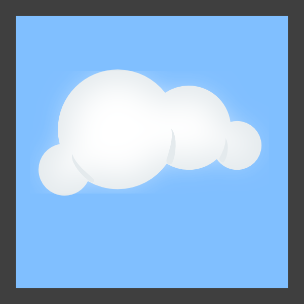 clipart free library Cloud Blue Background