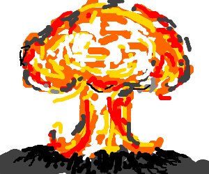 banner royalty free Cloud clipart atomic bomb. Mushroom drawing at getdrawings.