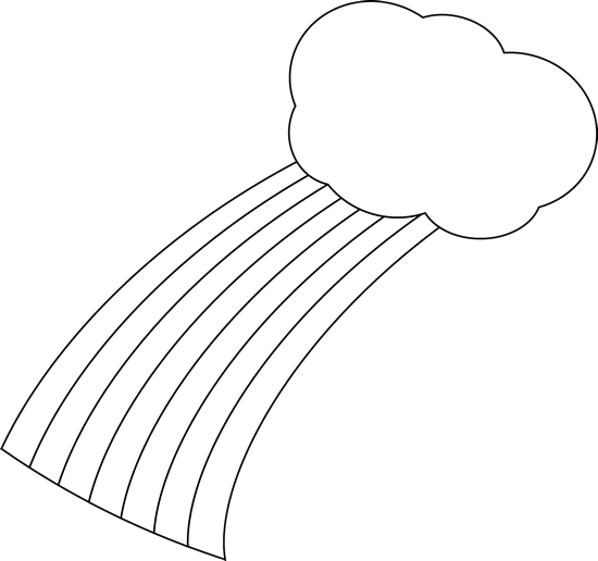 jpg freeuse stock Black and White Rainbow and Cloud Clip Art