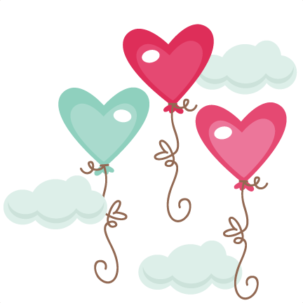 graphic free Clouds clip art . Cloud clipart heart.