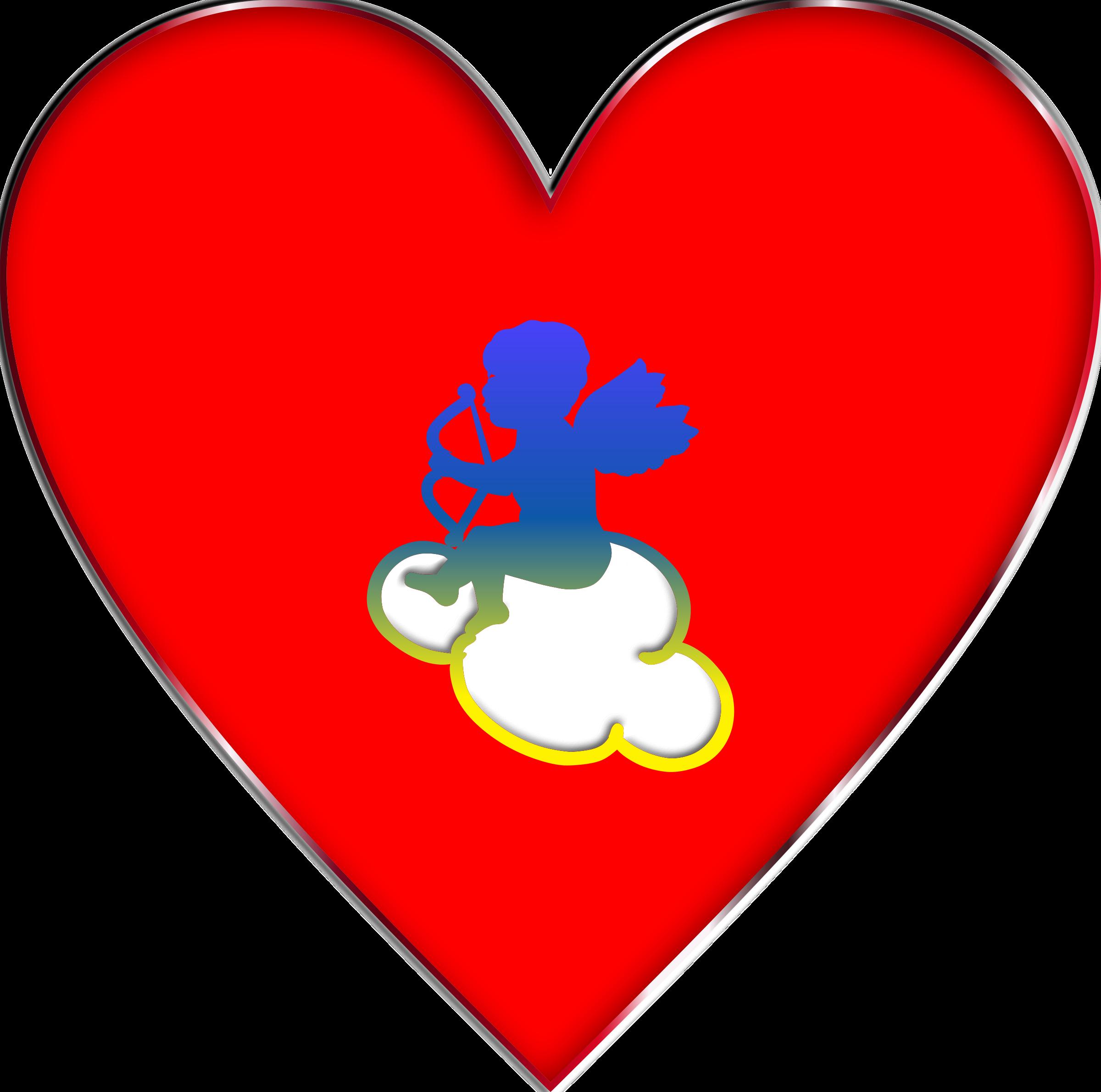 clipart stock Cloud clipart heart. Cupid enhanced big image.