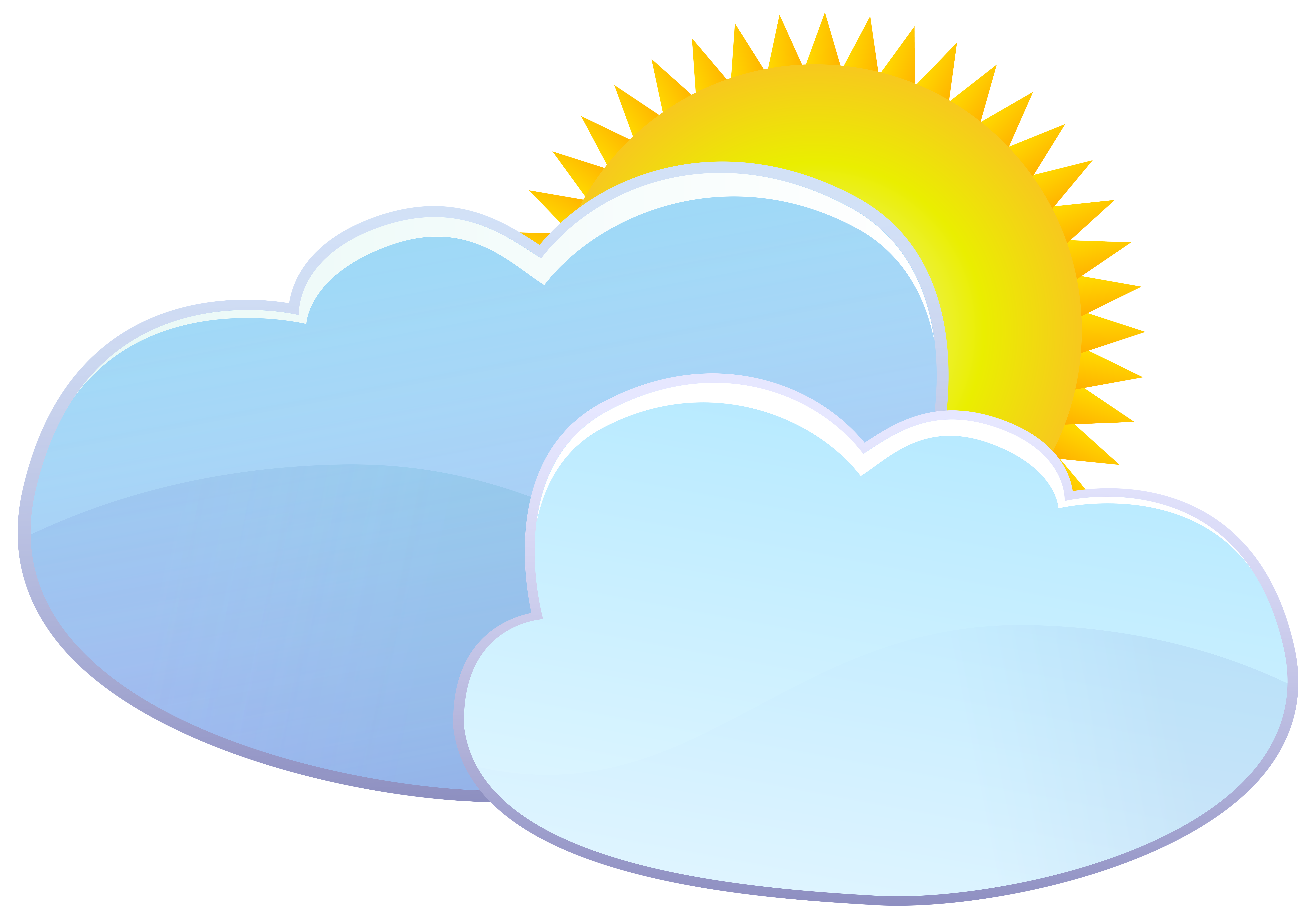 vector royalty free stock Cloud clipart heart. Clouds and sun weather.