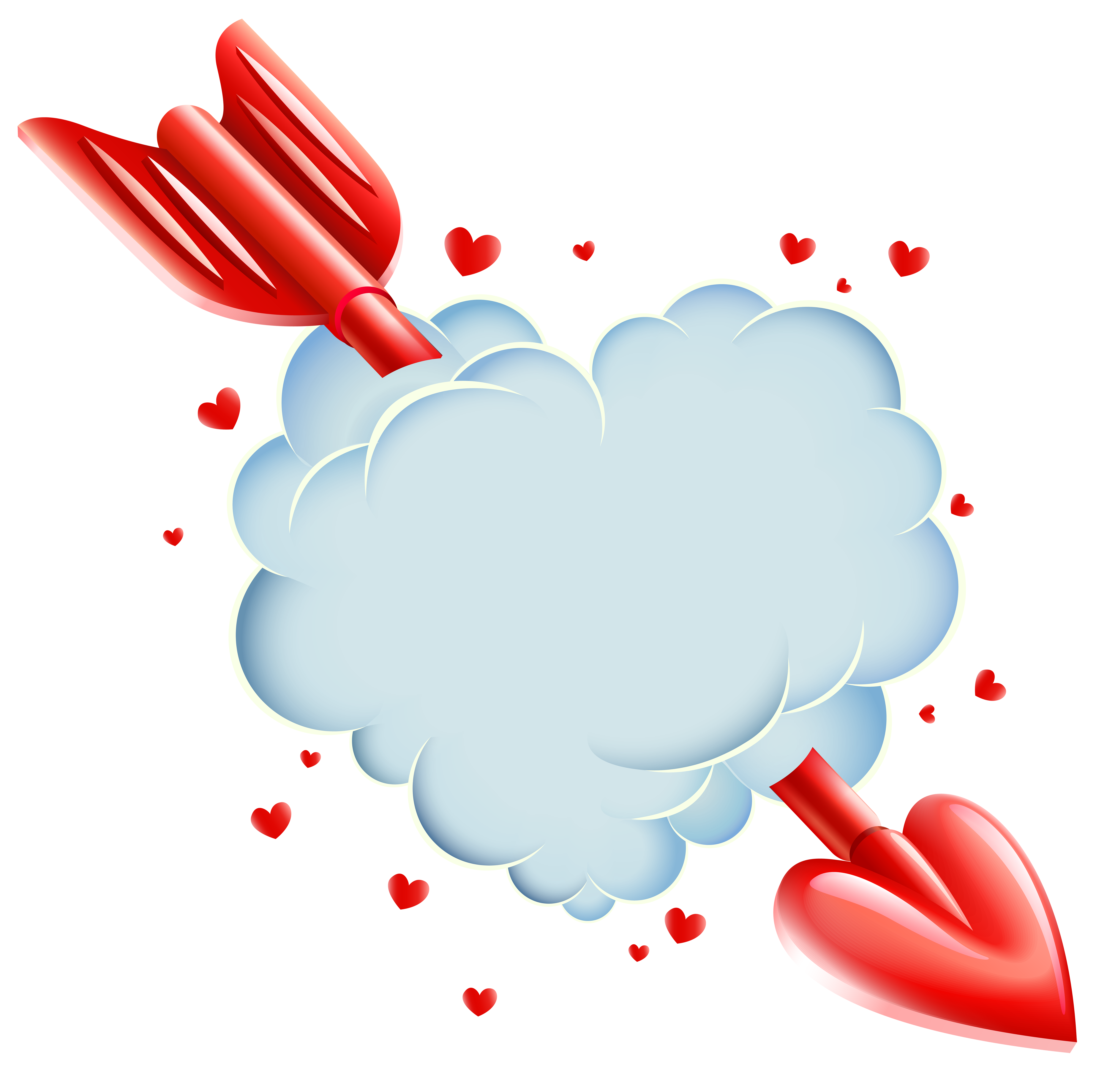 clipart royalty free stock Cloud clipart heart. Valentine s day with.
