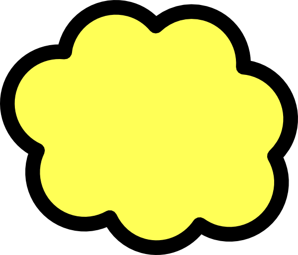 jpg black and white stock Cloud clipart logo. Yellow clip art at.