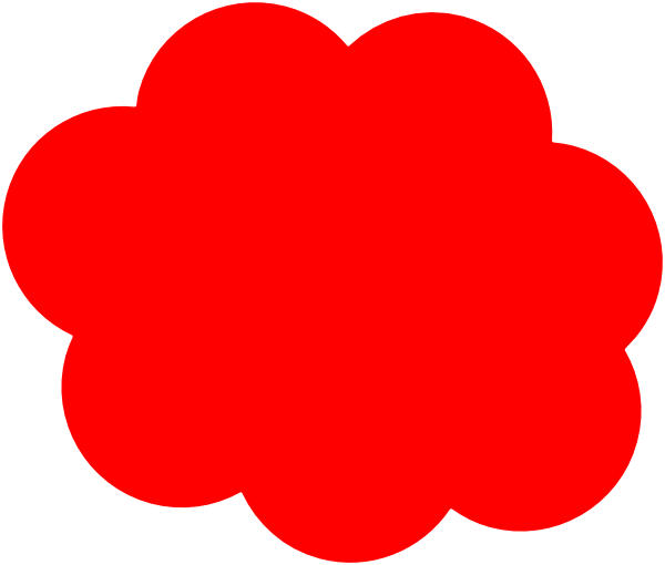 picture royalty free Red clip art at. Cloud clipart logo.
