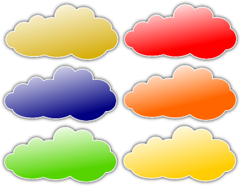 picture transparent library Clouds clipart printable. Colorful stickers free papercraft.