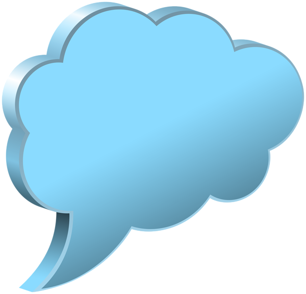 picture freeuse download Transparent png image gallery. Cloud clipart speech bubble.