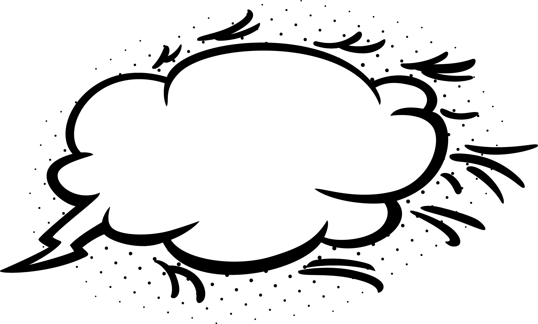 picture freeuse stock Empty comic bubbles png. Cloud clipart superhero.