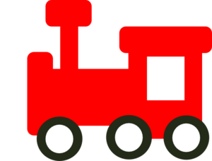 vector stock Red clip art at. Cloud clipart train.