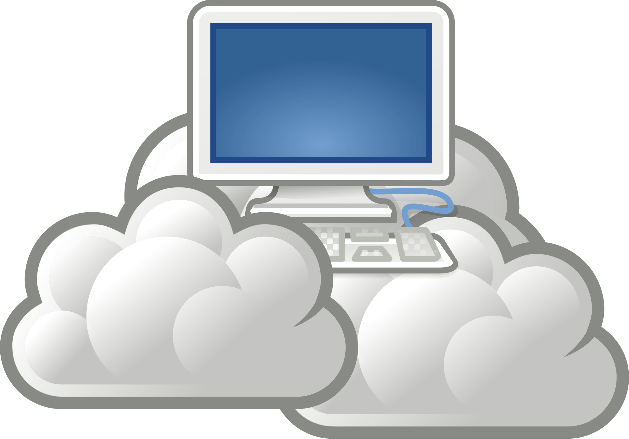 graphic free Web service clipart. Cloud hosting website services