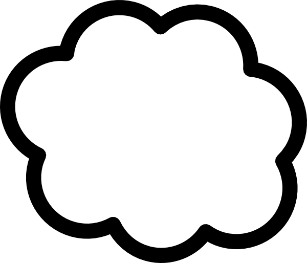 graphic library stock Cloud Shape Template Clip Art at Clker