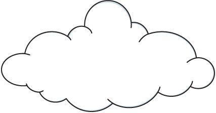picture freeuse download Cloud clip art black. Clouds clipart.