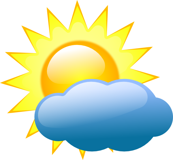picture SUMMER SUN AND CLOUD CLIP ART