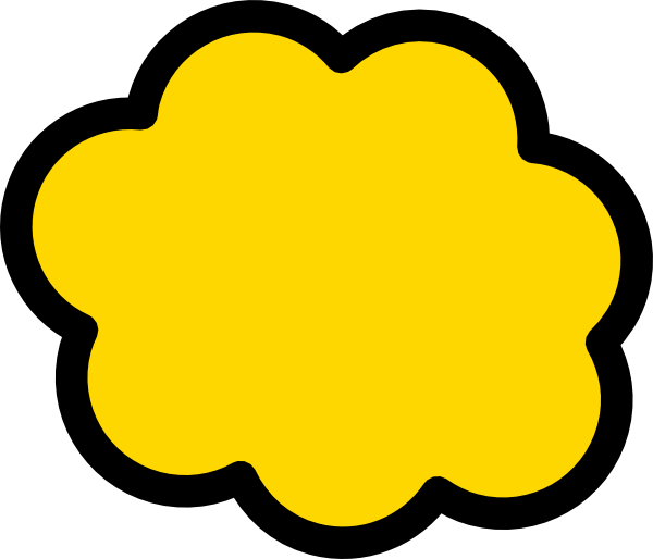 library Yellow cloud clip art. Clouds clipart orange.