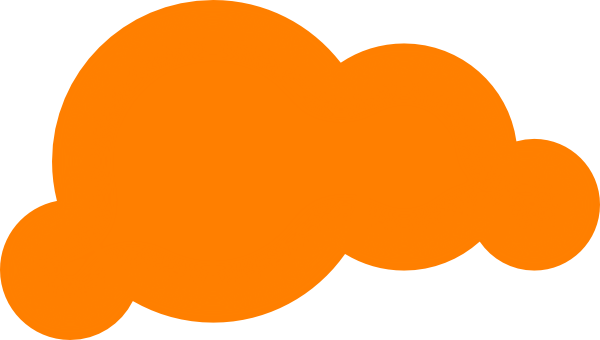 vector black and white Clouds clipart orange. Cloud clip art at.
