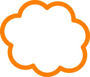 banner black and white Cloud clip art at. Clouds clipart orange.