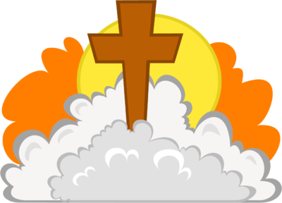 clip art royalty free download Image cross in christart. Clouds clipart orange.