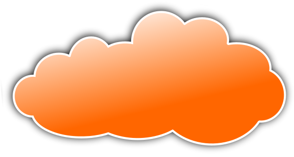 png library library Clouds clipart orange. Color cloud weather download.