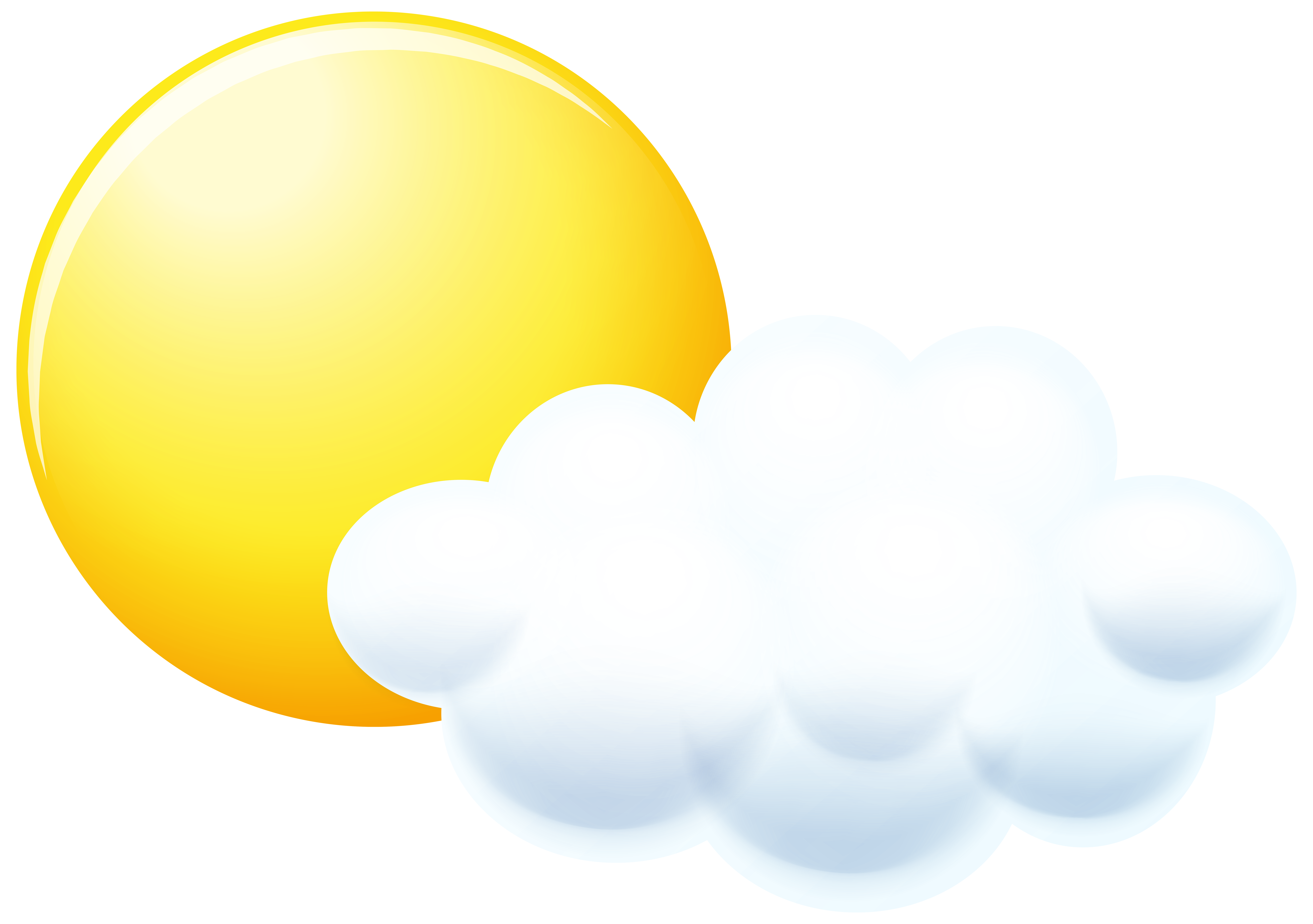 vector black and white library Sun and cloud clip. Full moon clipart