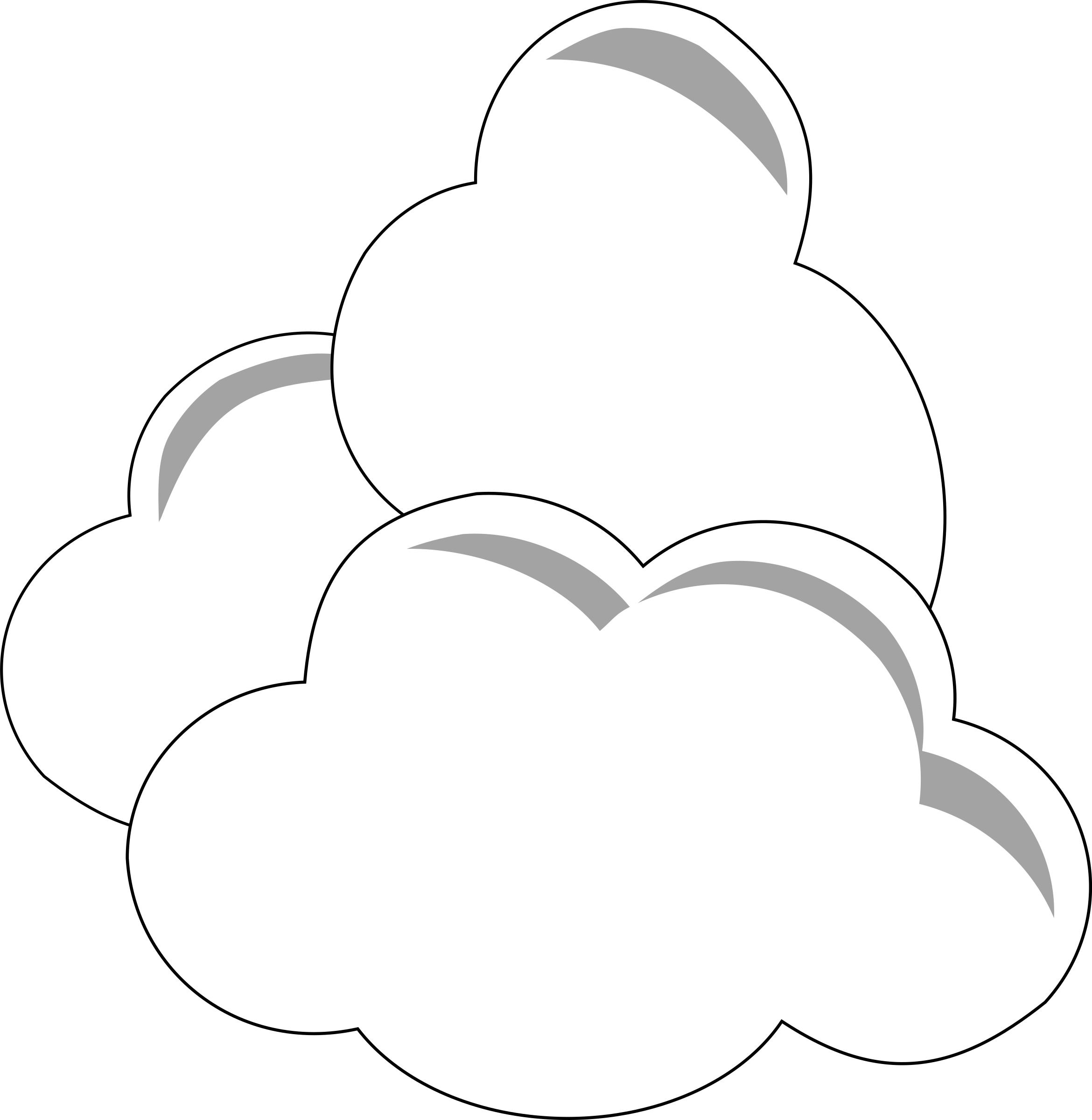 png freeuse library Big image png. Clouds clipart simple.