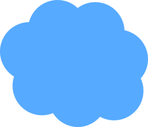 royalty free library Blue cloud clip art. Clouds clipart text.