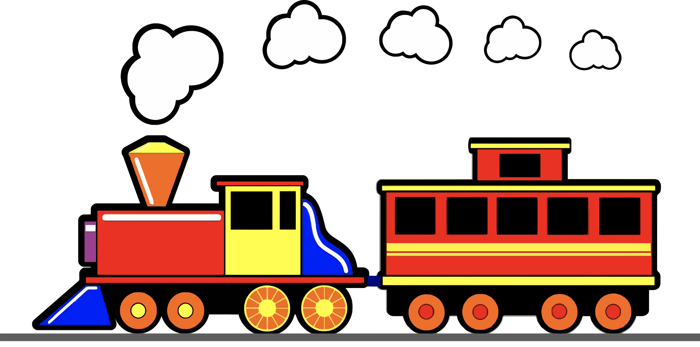 clip art transparent stock Clouds clipart train. Toy icons png free.