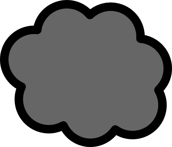 svg freeuse library Gray Cloud clip art