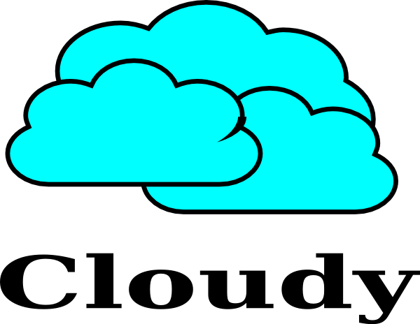 svg free Cloudy clipart. Clip art at clker.