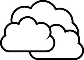 vector library library Cloudy clipart outline. Weather clip art at.