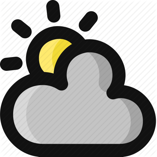 vector download Weather filled by alice. Cloudy clipart overcast.