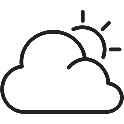 free stock Cloudy clipart overcast. Sun cloud weather icon.