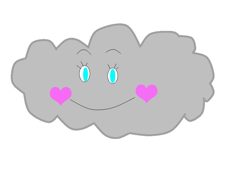 graphic freeuse Cute clip art grab. Cloudy clipart pretty cloud.