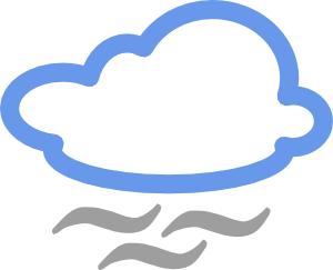 clipart black and white stock Cloudy clipart weather forecast. Symbols clip art at.