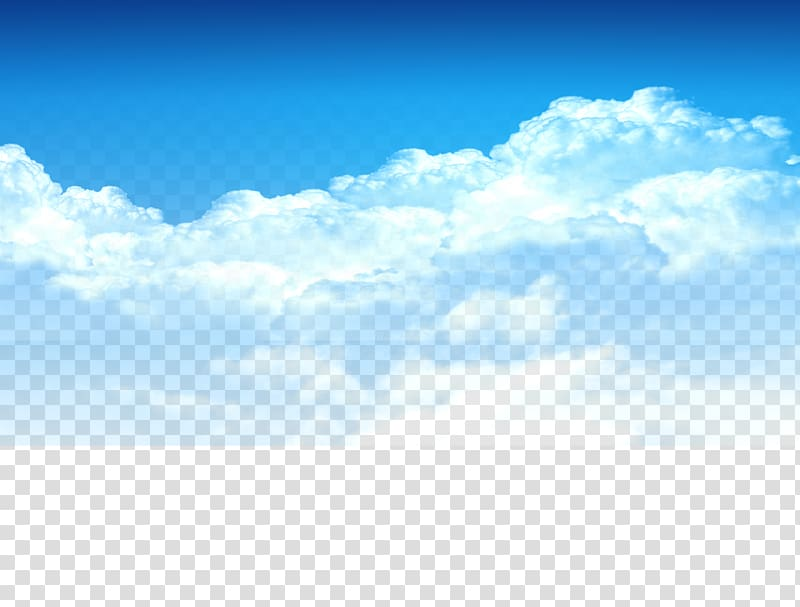 jpg black and white library Transparent sky. Cloud blue white clouds