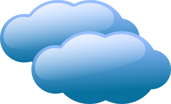 graphic freeuse Blue Clouds Clip Art at Clker