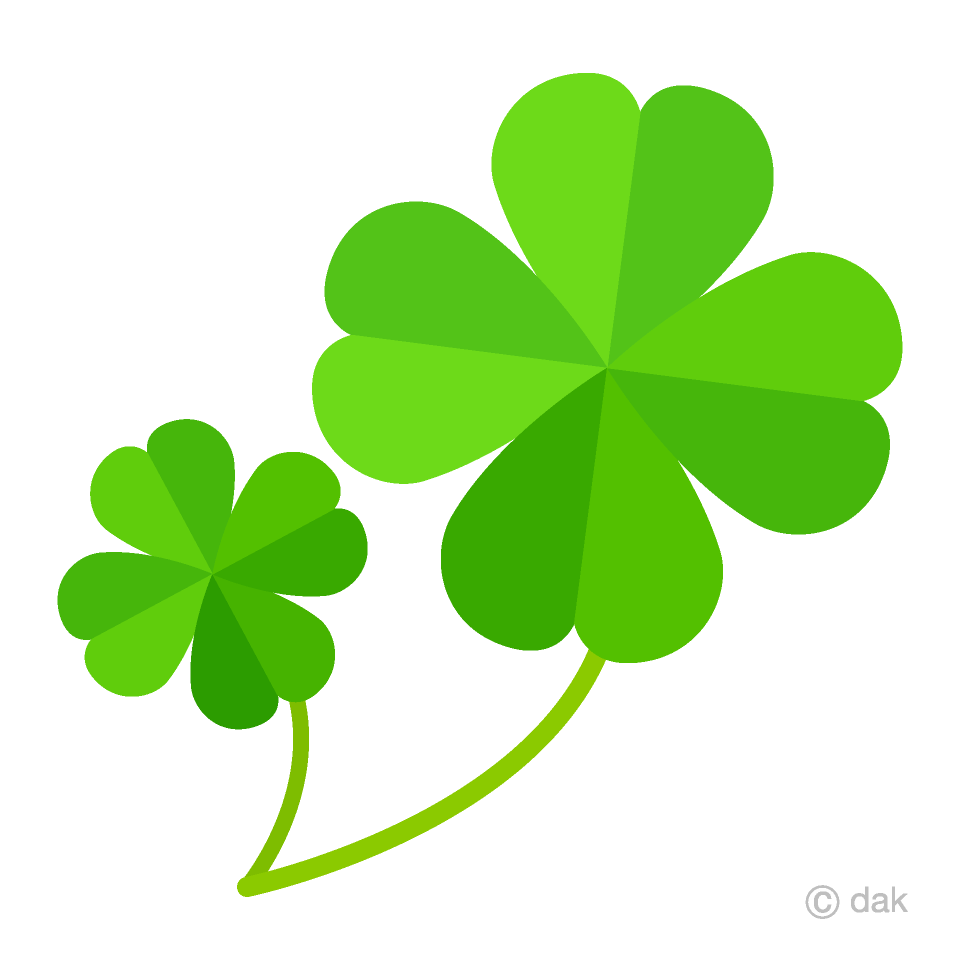 vector library stock Two four leaf clovers. Clover clipart.