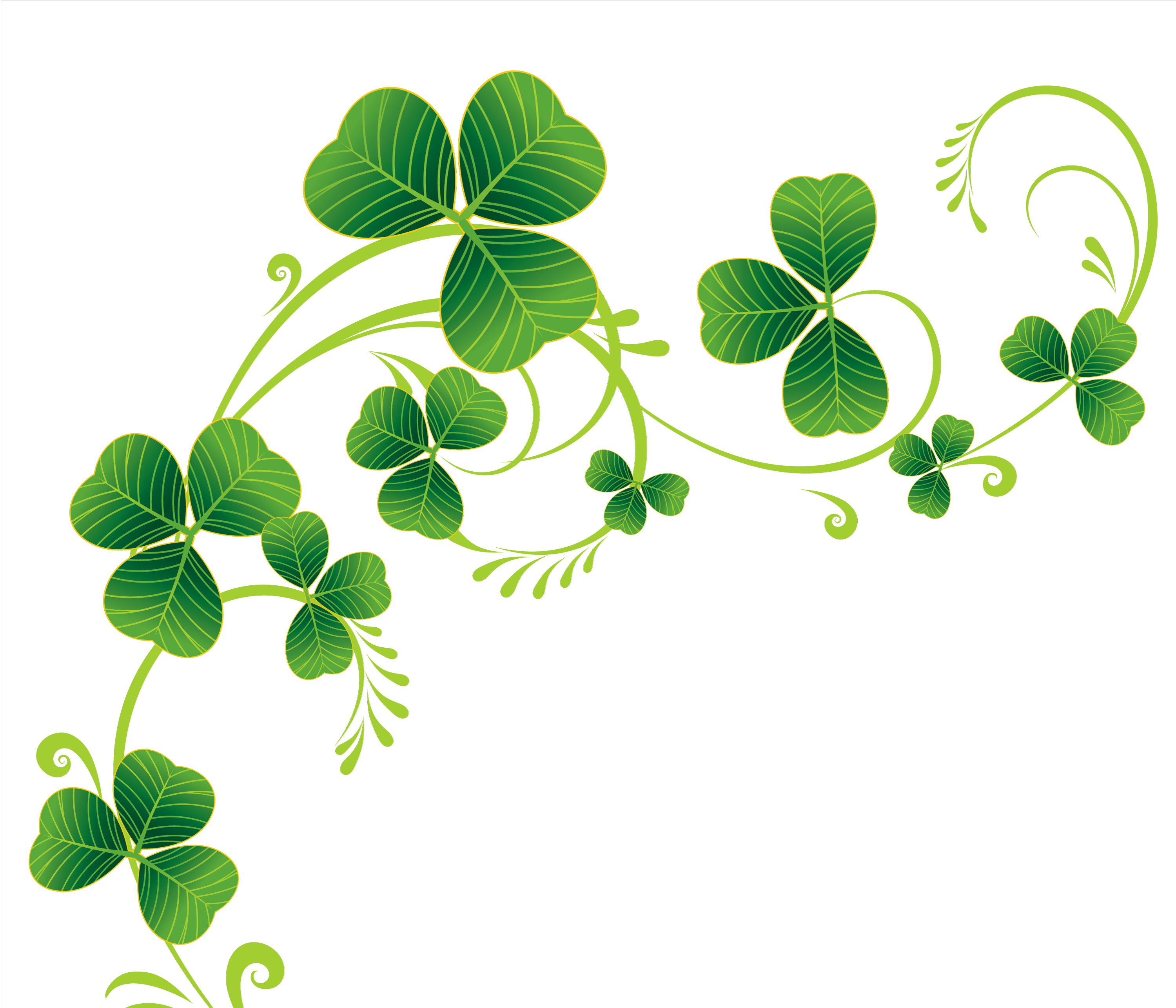 svg black and white library Border of shamrocks kid. Clover clipart.