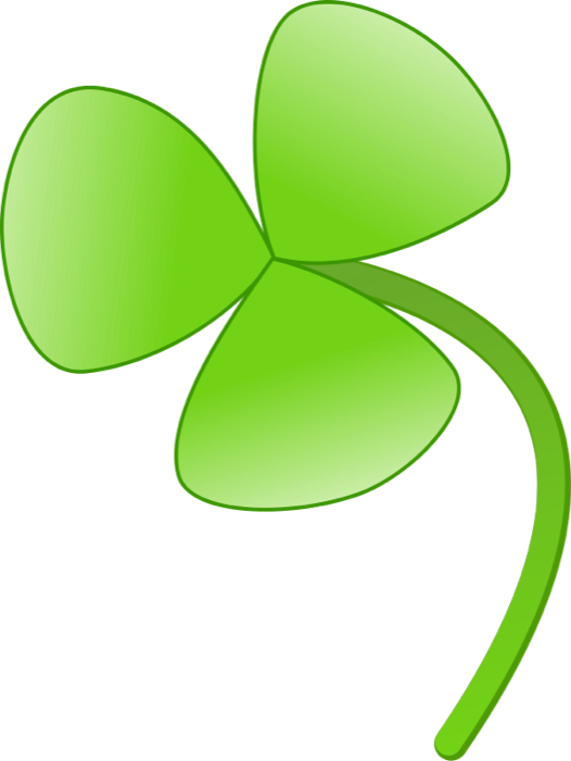 clip art black and white stock Clipart of Shamrocks and Four Leaf Clovers